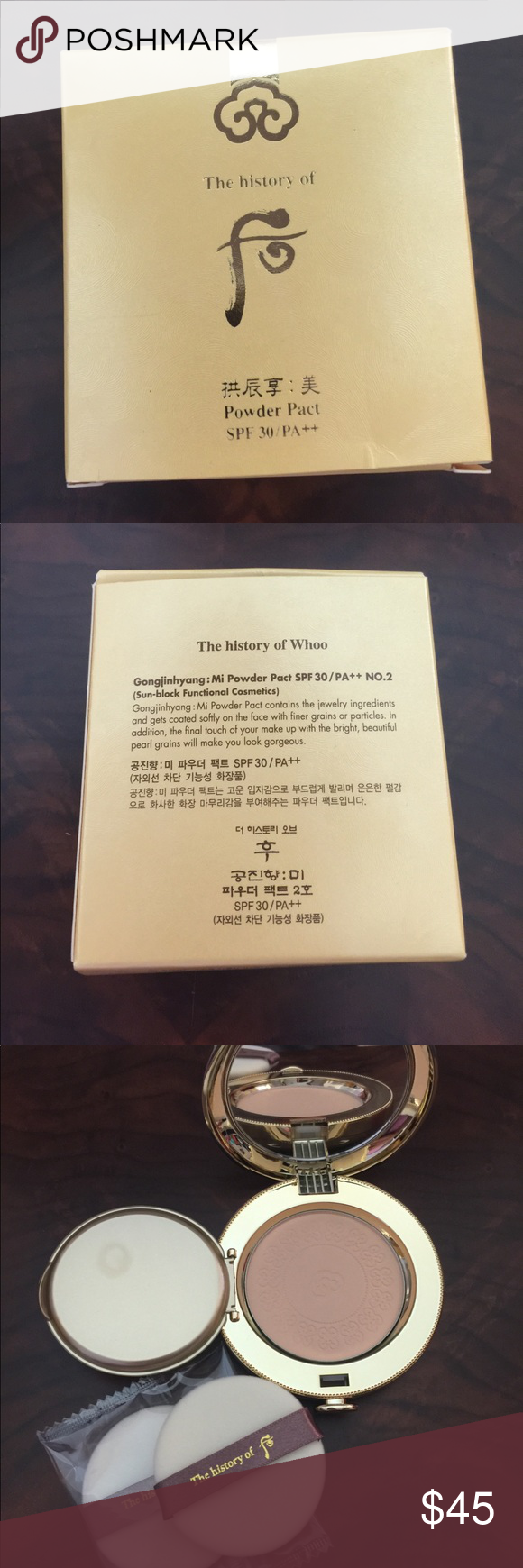The History of Whoo Powder Pact Brand New Famous Korean