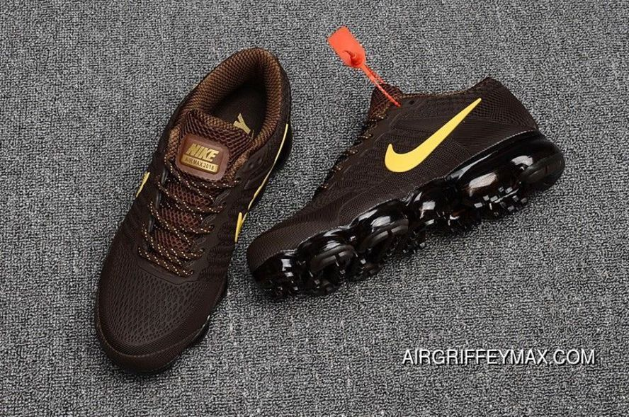 c842d5987caeb Men s Nike Air Vapormax Flyknit 2018 Brown Yellow Discount in 2019 ...