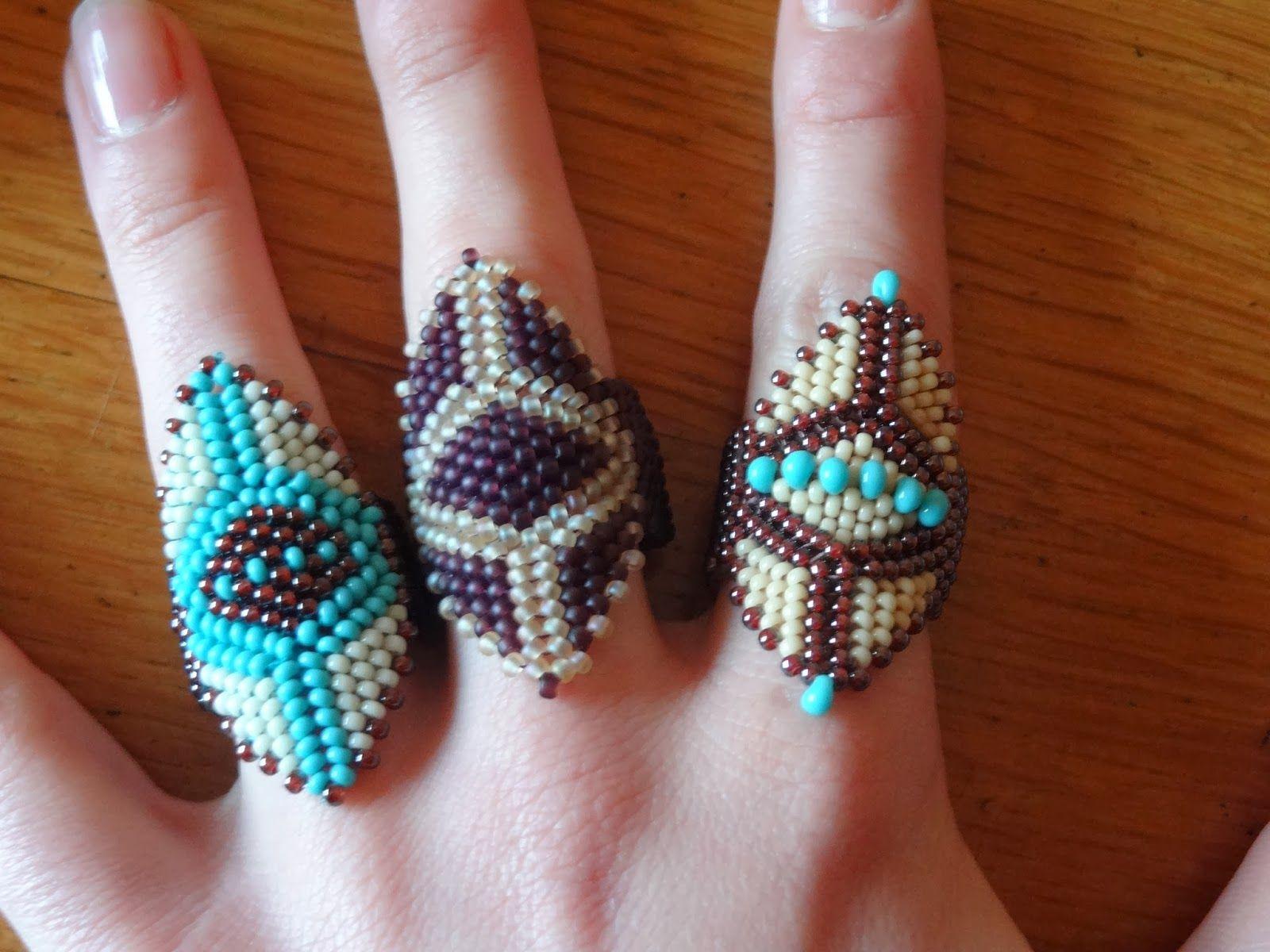 les perlages de tatinat bagues perles rocailles bijoux fait main perlages pinterest. Black Bedroom Furniture Sets. Home Design Ideas
