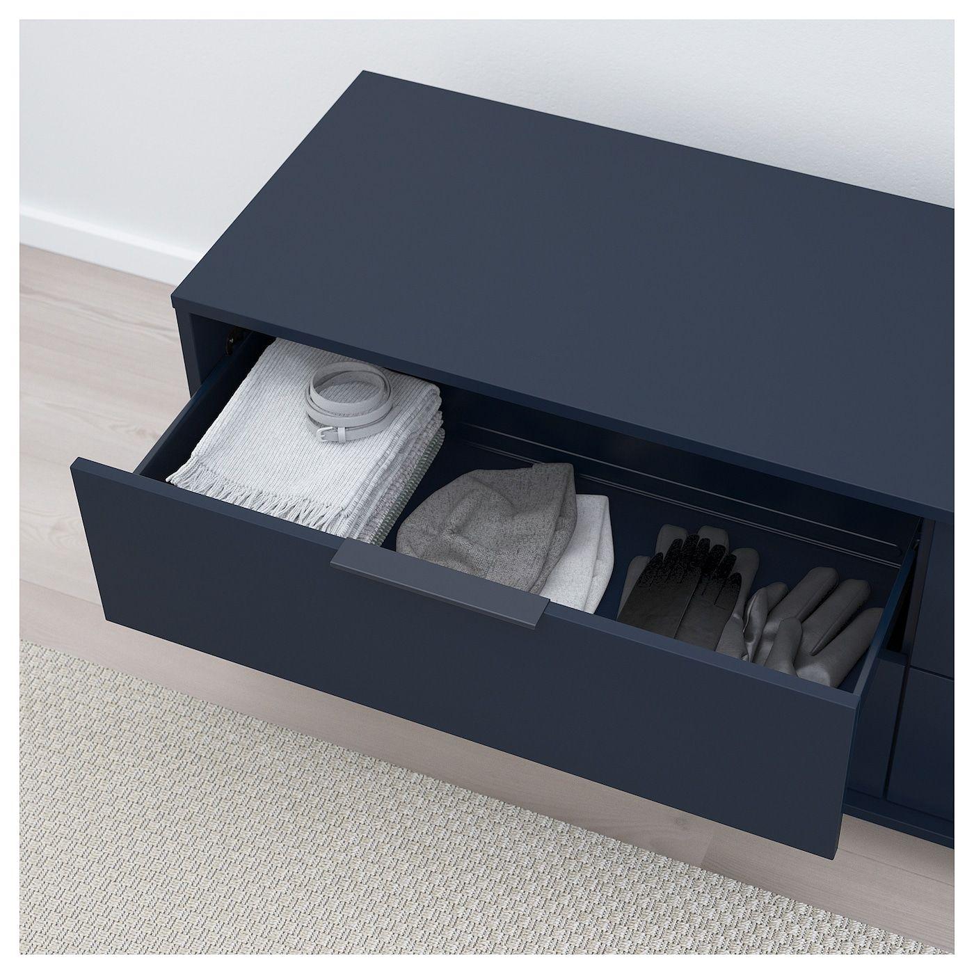 Nordmela Ladekast Met 4 Lades Zwartblauw 159x50 Cm Ikea In