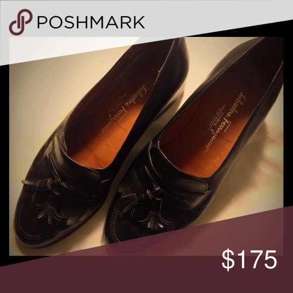 5bd1ed7b203d Black leather men s slip-on loafers Pre-owned Studio men s shoes made in  Italy. Size 11 1 2 D. In good condition and lots of life remaining.  Salvatore ...