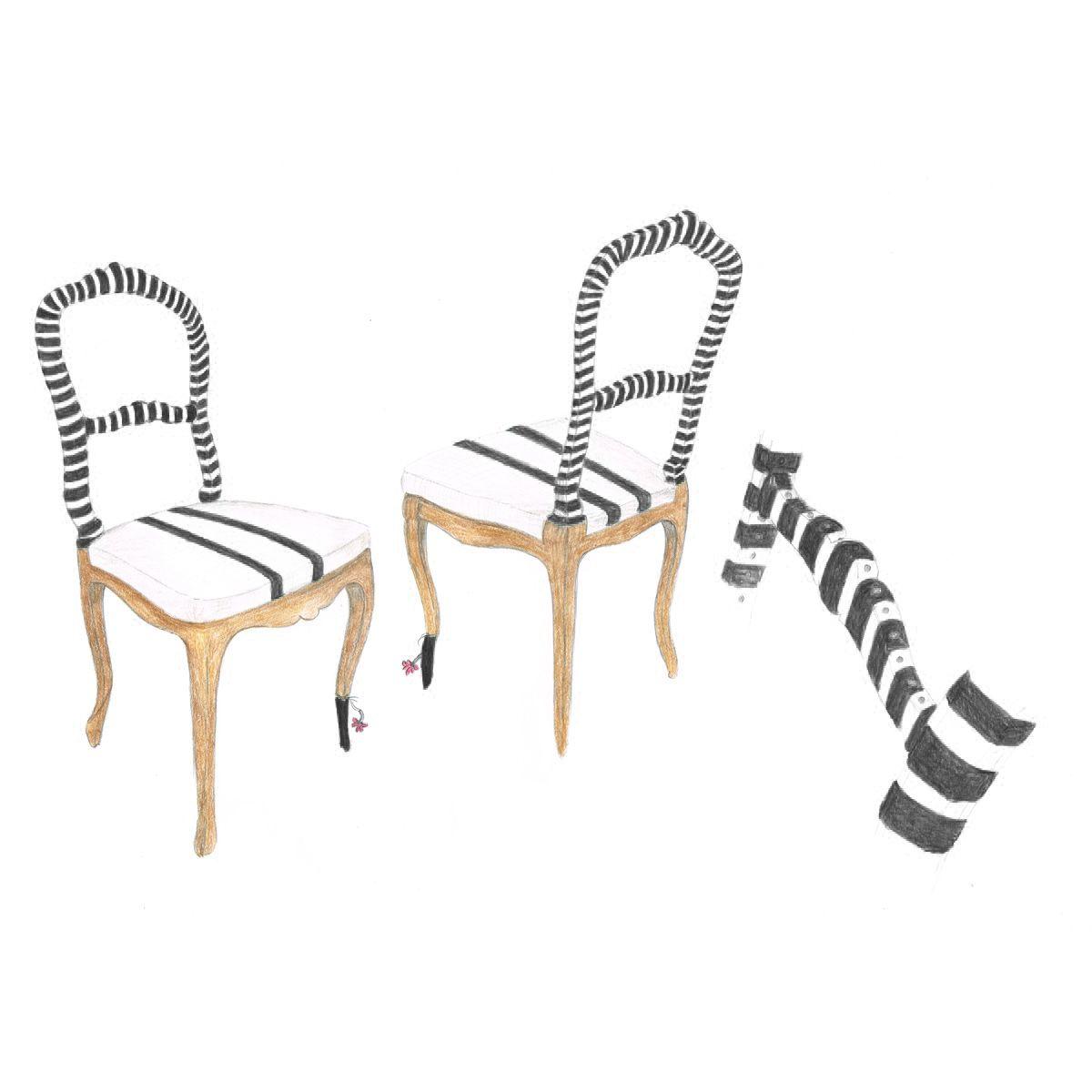 Fingerprint Two Stripes Chair Bunakara