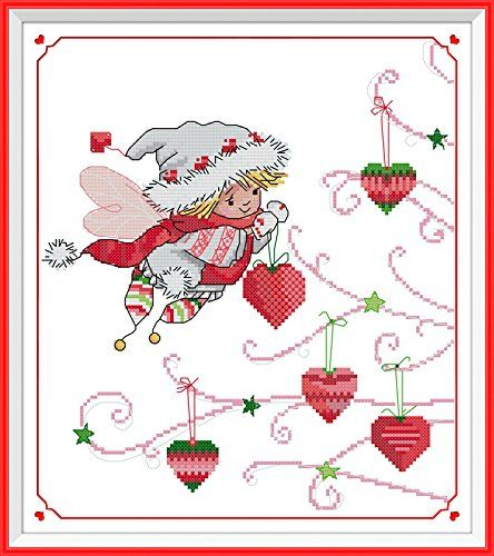 """NKF Cross Stitch Kit, The Christmas gifts of spirit , 11CT Counted, 37cmX41cm or 14.8""""X16.4"""" NKF http://www.amazon.com/dp/B00O2EOJFC/ref=cm_sw_r_pi_dp_-i5qwb1F7V5P2"""