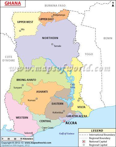 Regional map of ghana other africa pinterest ghana regional map of ghana gumiabroncs Image collections