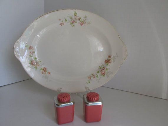Pastel Platter Floral Platter Farmhouse Table by ReVintageLannie