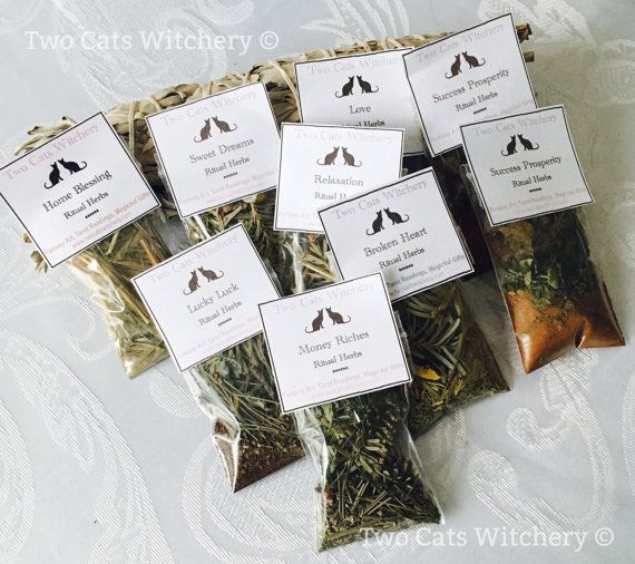 Ritual Herb Kit, Hand Blended Herbs, Spell Herbs, You Choose