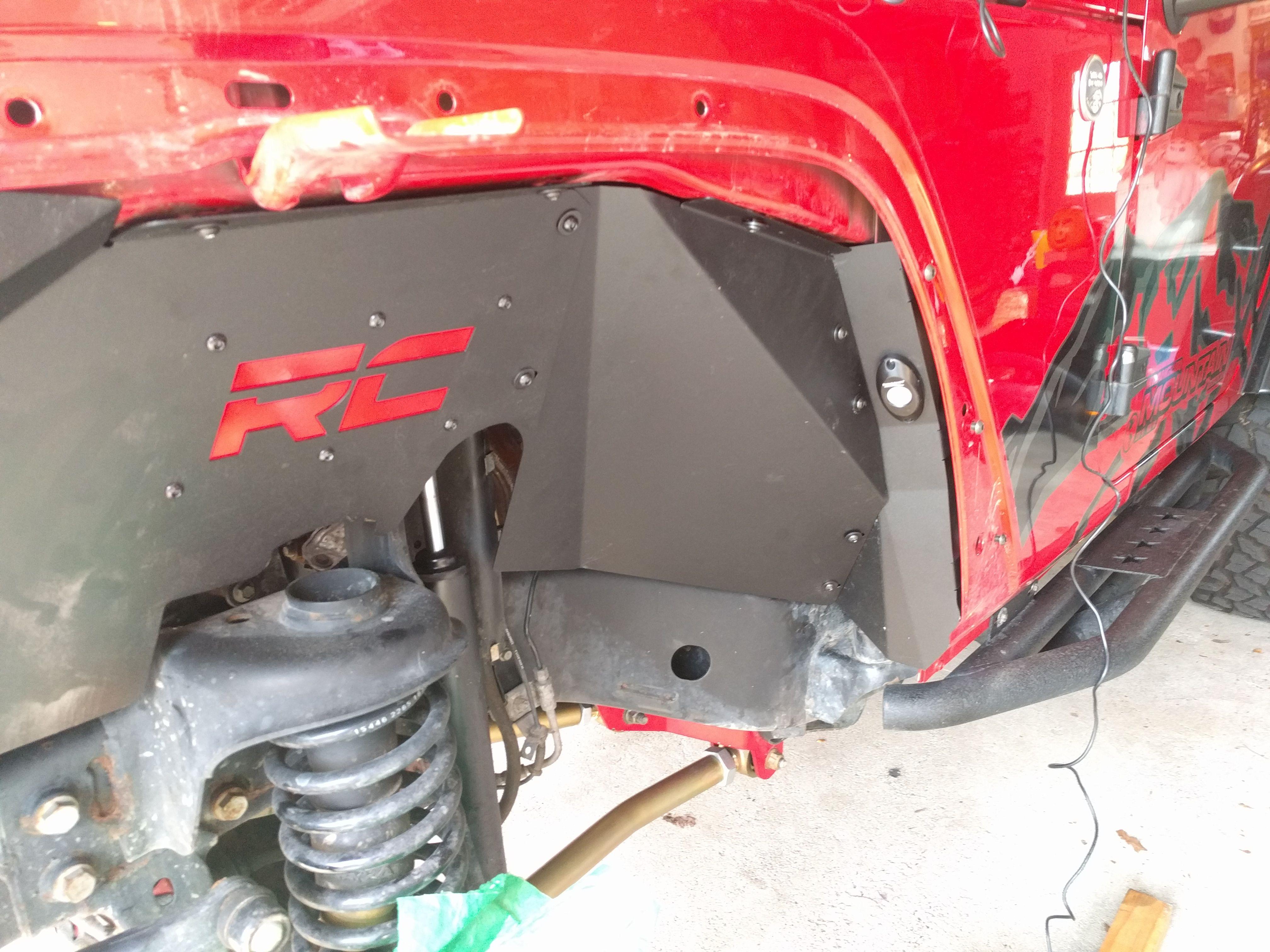 Inner Fender Liner Metal Cloak Jeep Fenders Jeep Black Jeep