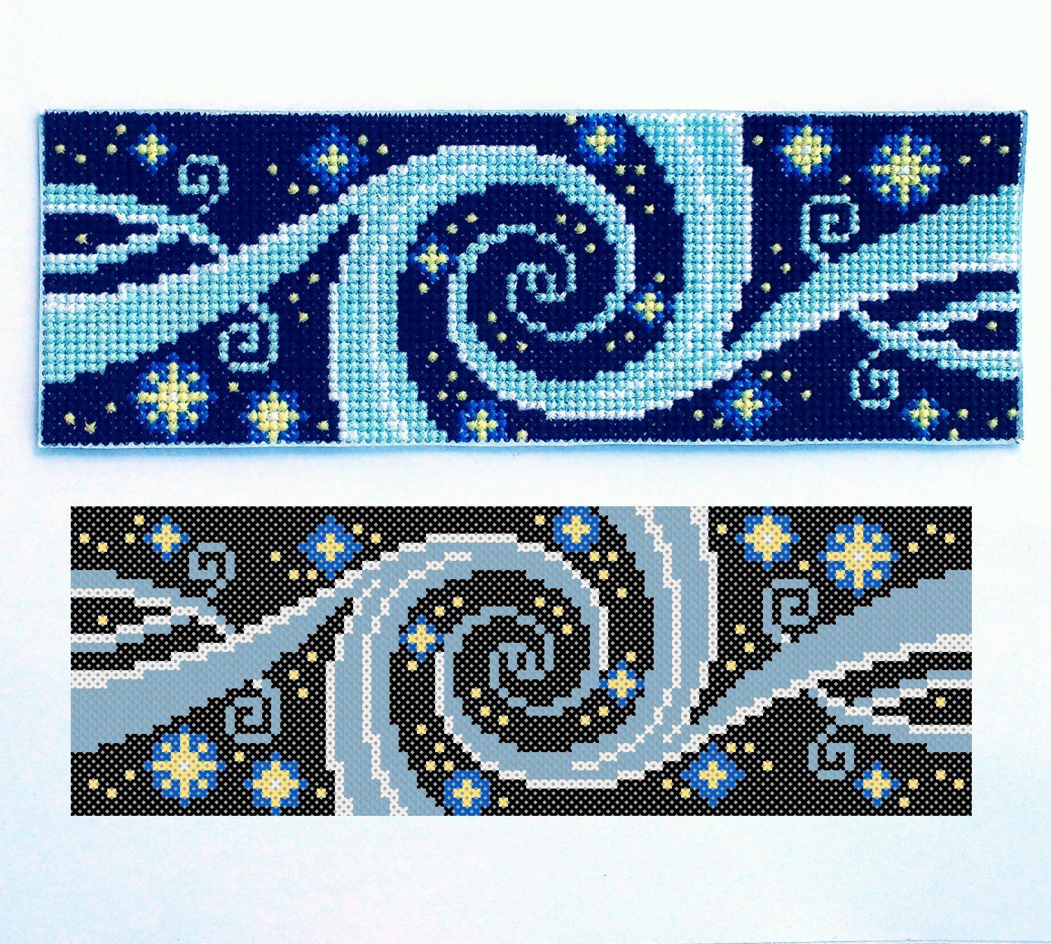 Galaxy Cross Stitch Pdf Pattern Starry Night Sky