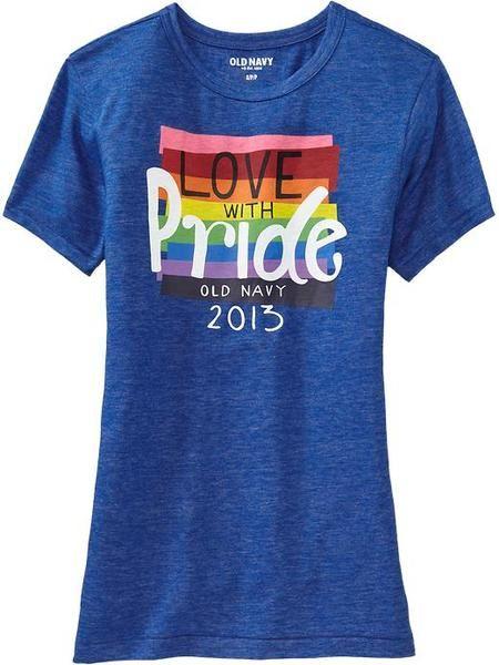 0487103d6 Old Navy Blue Love Is Love Pride Tees  