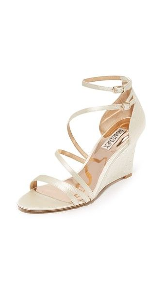Badgley Mischka Carnation Wedge Sandals