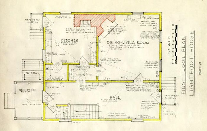 William lightfoot house architectural report block 11 for Williamsburg colonial house plans