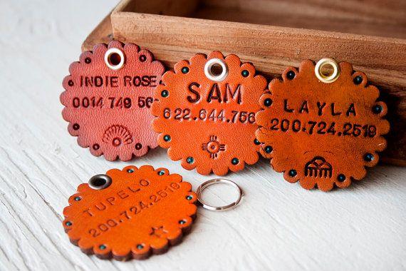 Make A Dog Tag Leather Diy Diy Dog Collar Diy Dog Stuff
