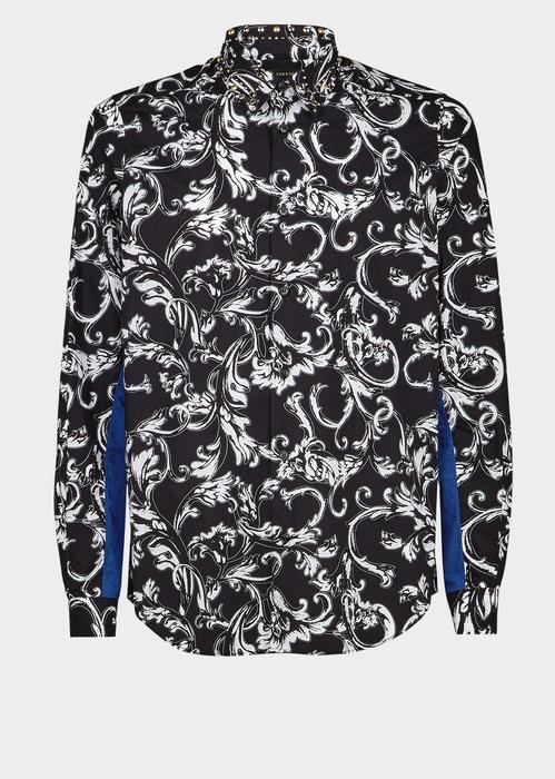 09c890a6 VERSACE Crystal Collar Acid Baroque Shirt. #versace #cloth ...