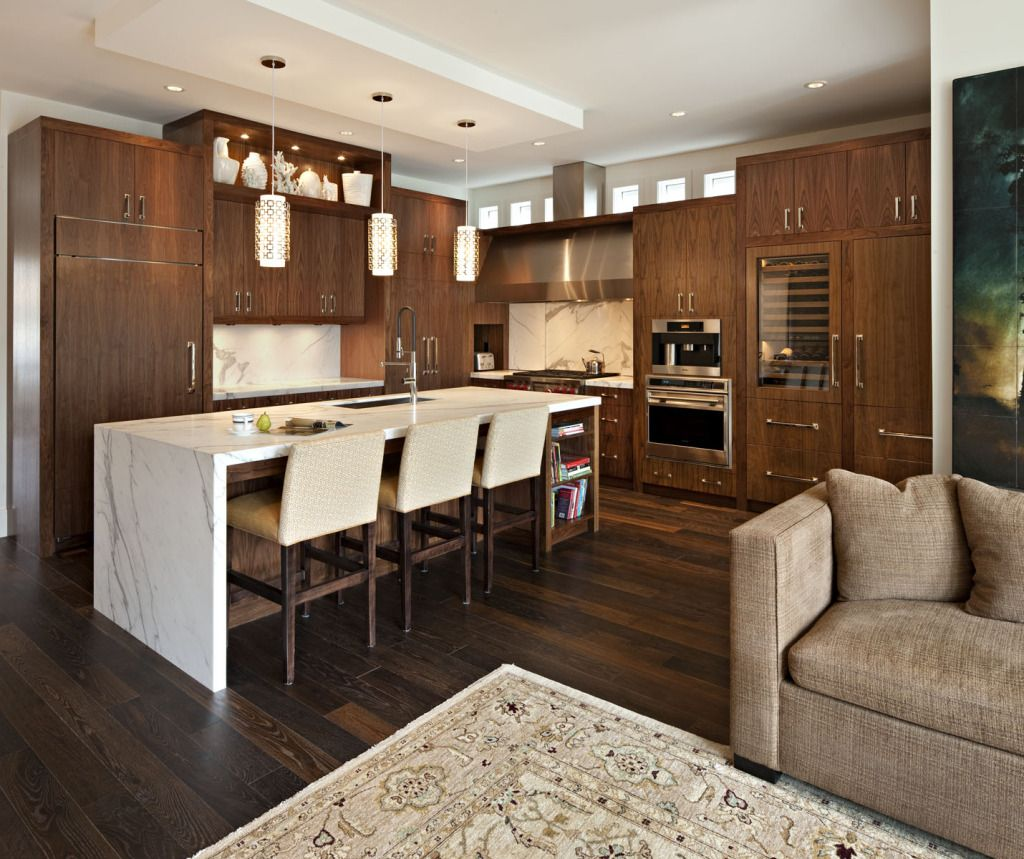 Corea Sotropa Interior Design   Kitchens   Modern Kitchen, Frameless Veneer  Brown Kitchen Cabinets,