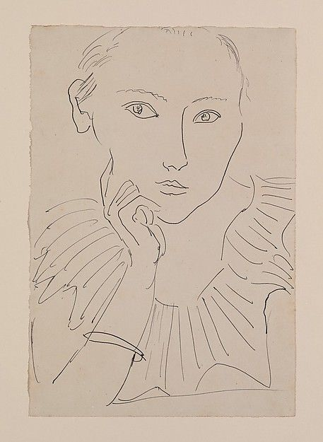 Henri Matisse, Portrait of a Woman with Ruff and Bracelet, 1922, pen and ink on paper, 28 x 19 cm