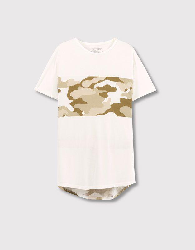 pull&bear t shirt with aztec print, Pull&bear pantaloncini