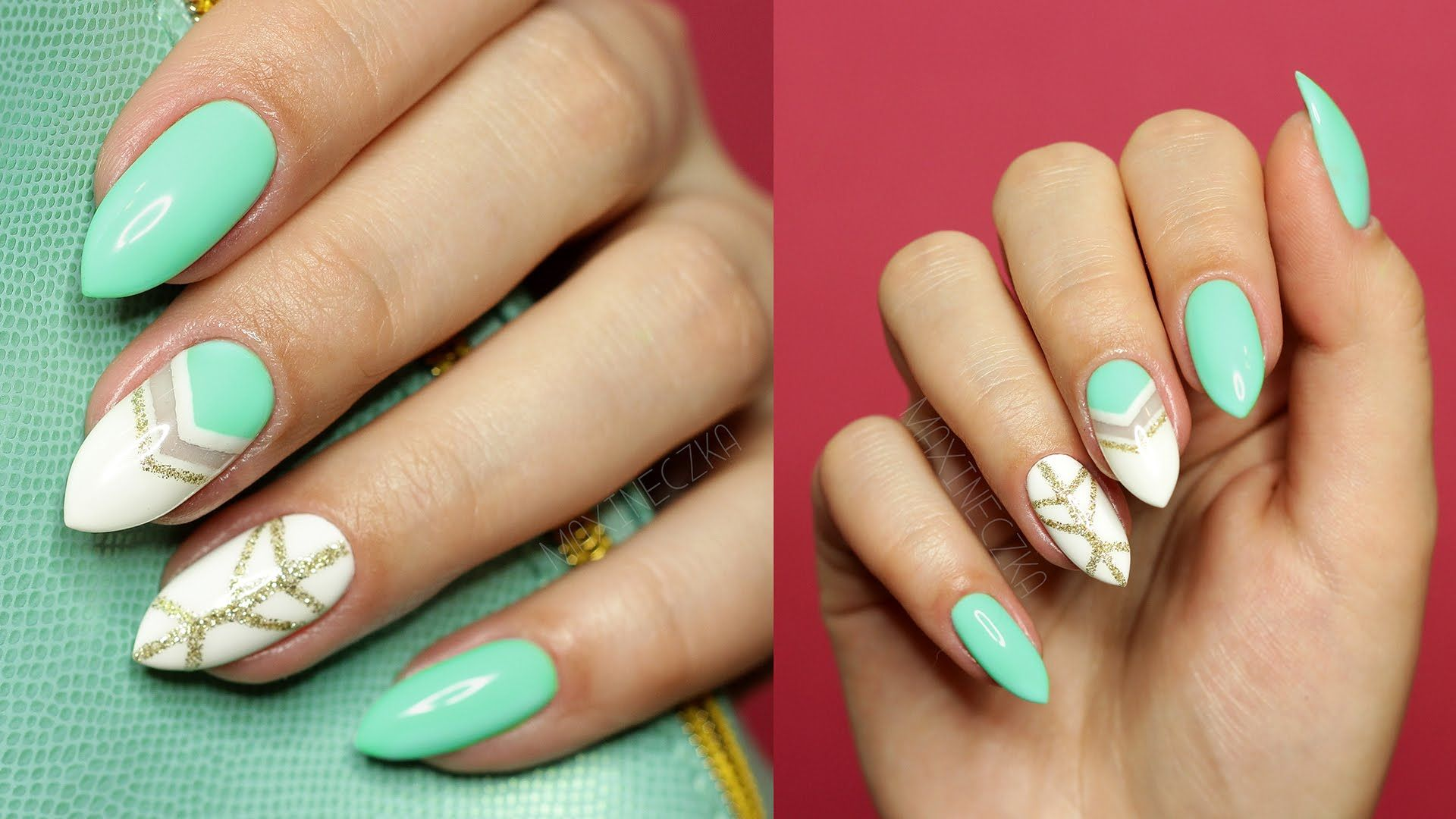 Wiosenny Manicure Hybrydowy Negative Space Semilac