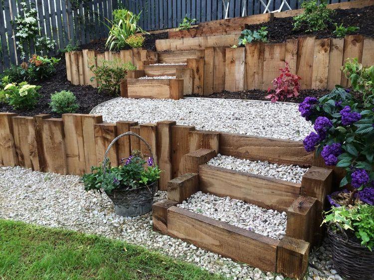 Garten terrassieren – Praktische Tipps und Ideen für einen schönen Hanggarten #vorgartenanlegen
