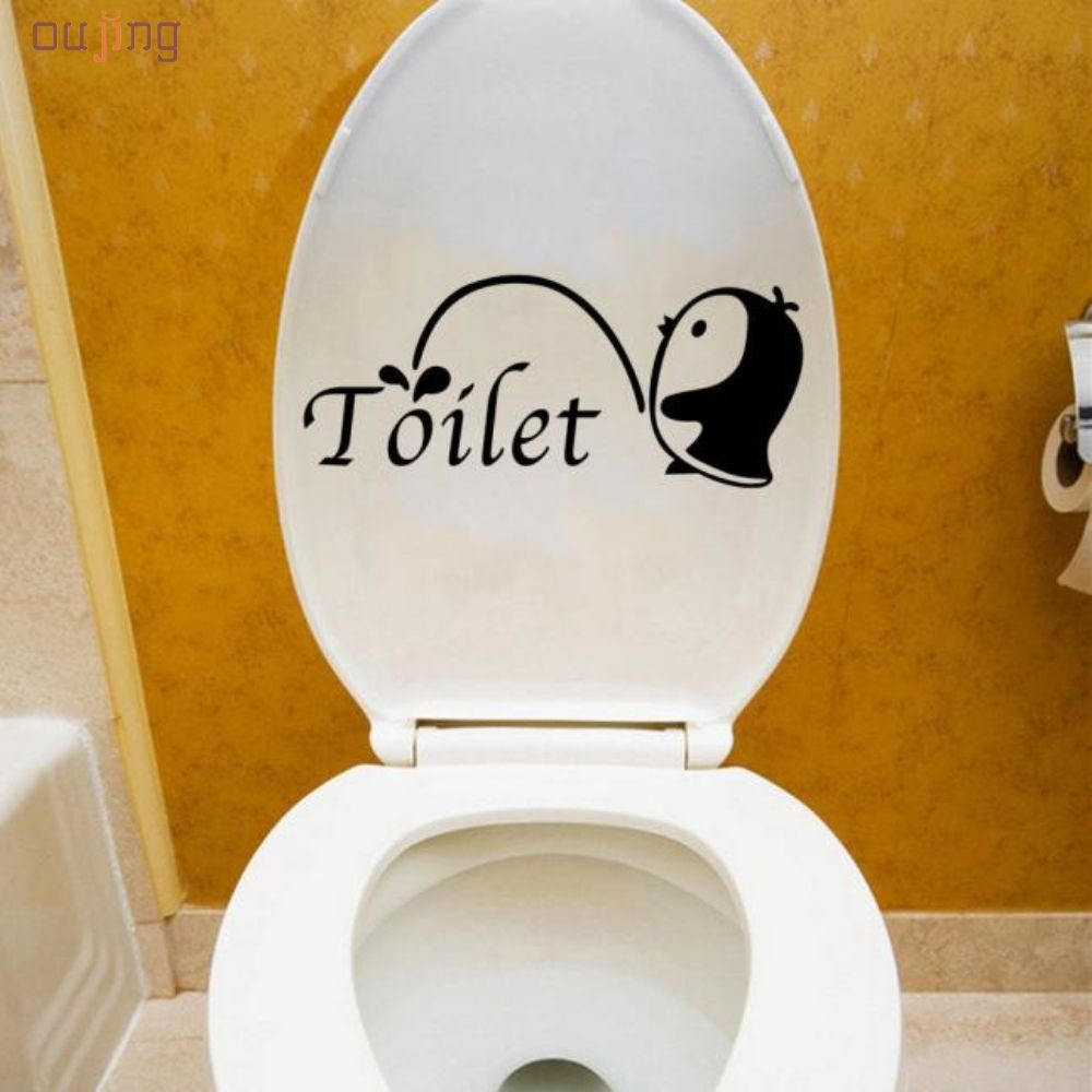 Oujing Happy Gifts Cute Penguin Wall Stickers Bathroom Docer