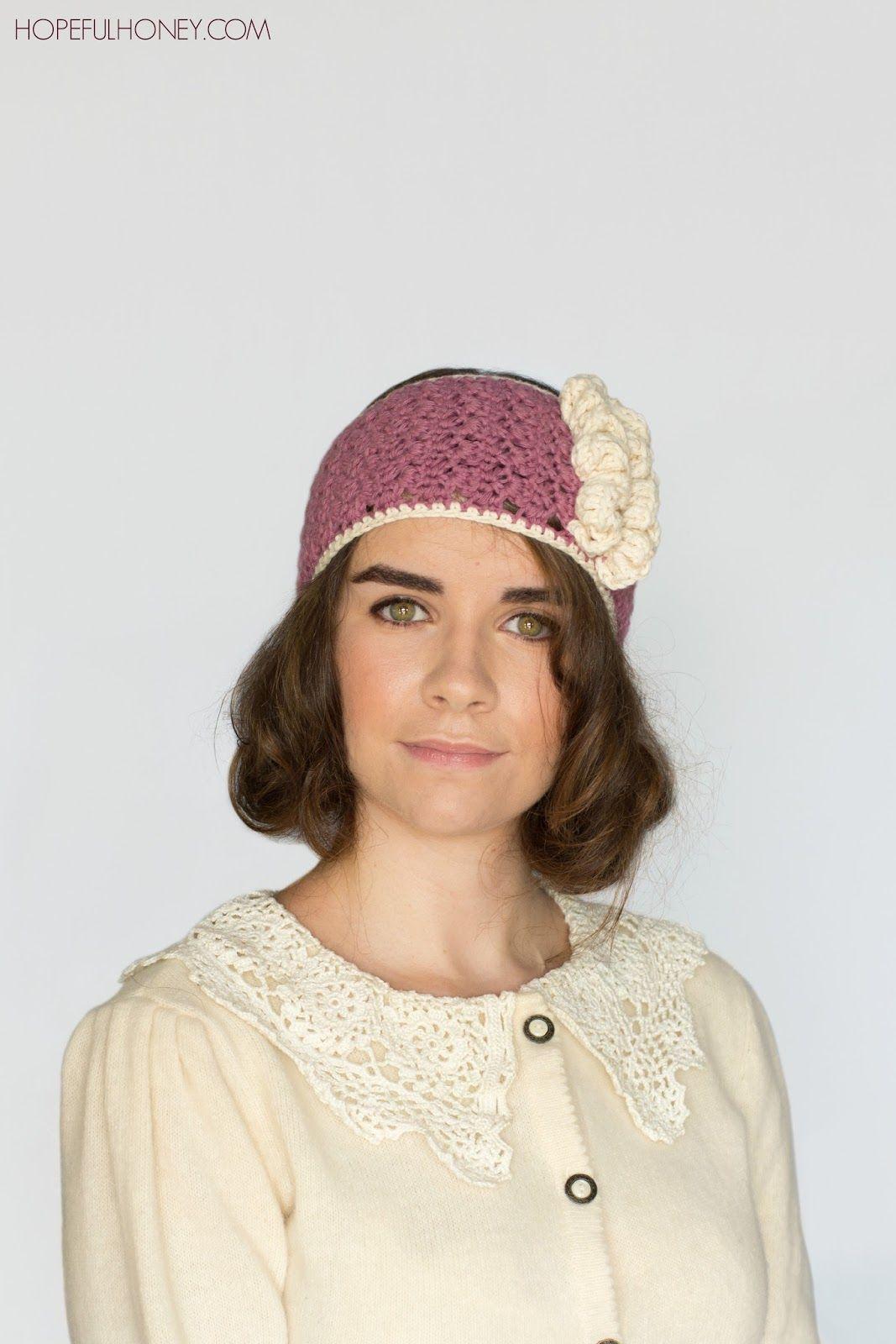 1920\'s Rose Swirl Headband Crochet Pattern