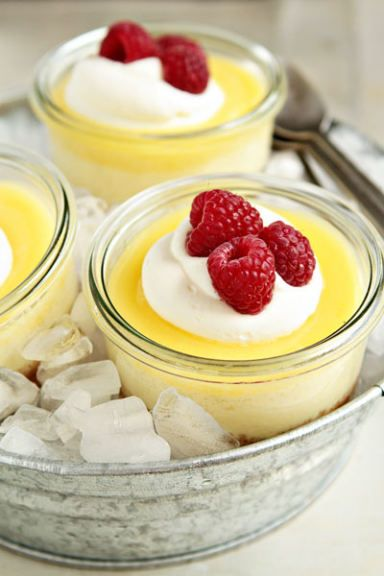 Lemon Cheesecake In A Jar Recipe   Cool And Light Dessert On A Hot Summer  Day
