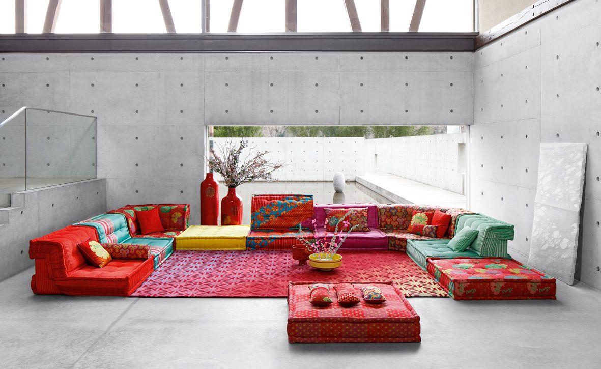 Roche Bobois | Mah Jong Sofa In Hiru Fabrics Designed By Kenzo Takada |  Autumn