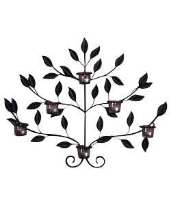 Metal Leaf 6 Cup Tea Light Holder Wall Art Tea Lights Tea Light Holder Wall Art