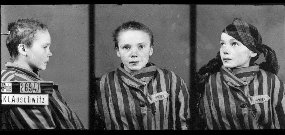 NEVER FORGET!   Czeslawa Kwoka, age 14, appears in a prisoner identity photo provided by the Auschwitz Museum, taken by Wilhelm Brasse while working in the photography department at Auschwitz, the Nazi-run death camp where some 1.5 million people, most of them Jewish, died during World War II. Czeslawa was a Polish Catholic girl, from Wolka Zlojecka, Poland, who was sent to Auschwitz with her mother in December of 1942. Within three months, both were dead. Photographer (and fellow prisoner)…