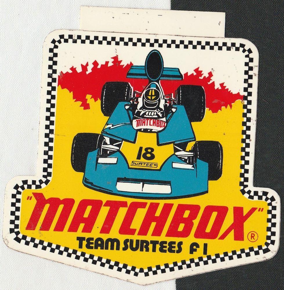 Matchbox Team John Surtees Formula 1 1974 Carlos Pace Original Period Sticker F1 Racing Stickers Automobilia Formula 1 [ 1000 x 979 Pixel ]