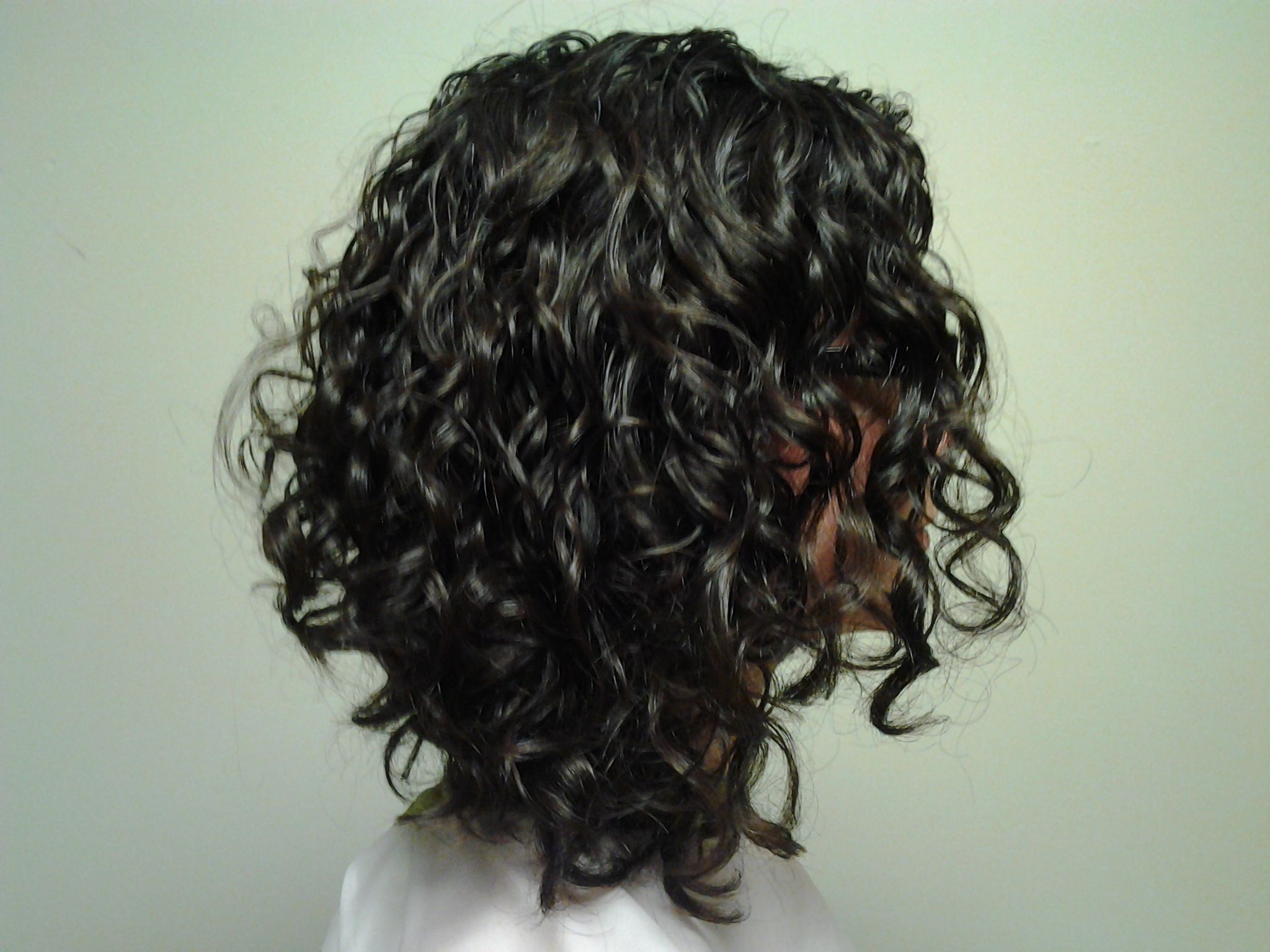 inverted naturally curly bob front view Google Search