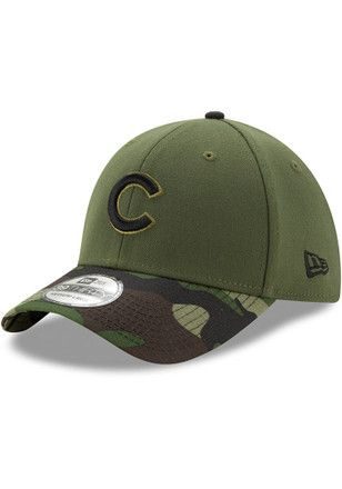 ece53c80091 New Era Chicago Cubs Mens Green 2017 Memorial Day 39THIRTY Flex Hat ...