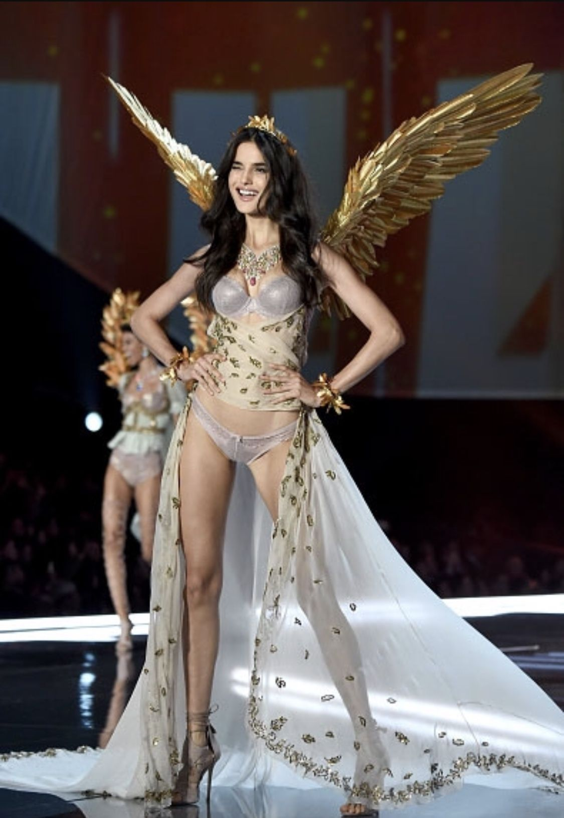 9dcab40087 Blanca Padilla wearing wings I made for her in the Victoria s Secret  Fashion show in Shanghai 2017