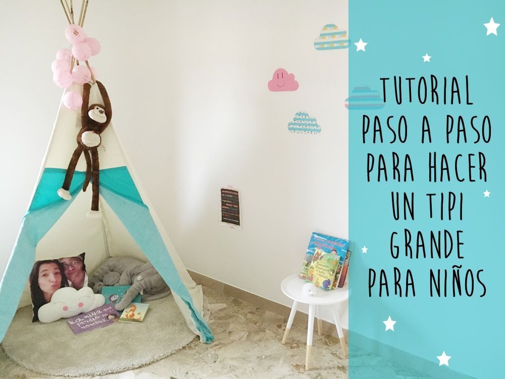 como hacer un tipi grande para ni os ideas para bebe pinterest ideas para. Black Bedroom Furniture Sets. Home Design Ideas