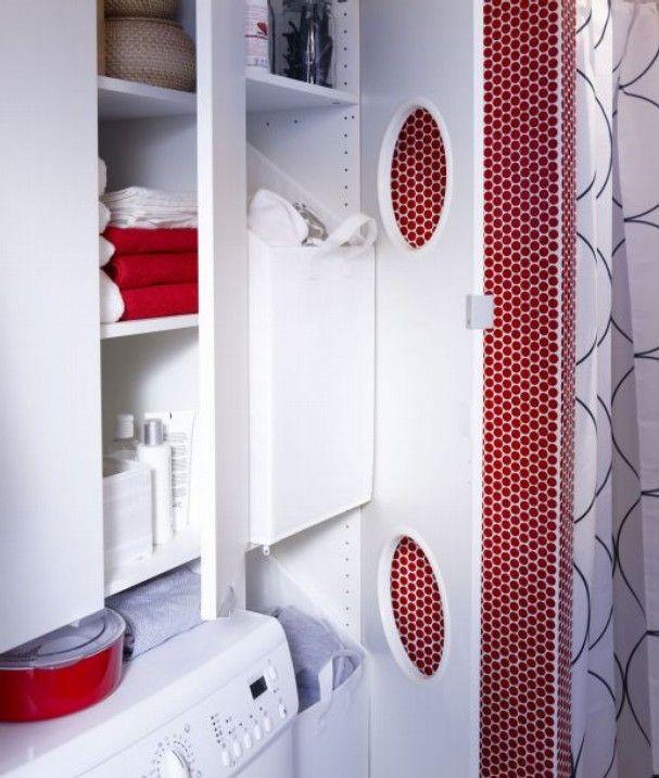 IKEA Lillangen Laundry Cabinet. Closer Inside View. @Dawn Cameron Hollyer  Cameron