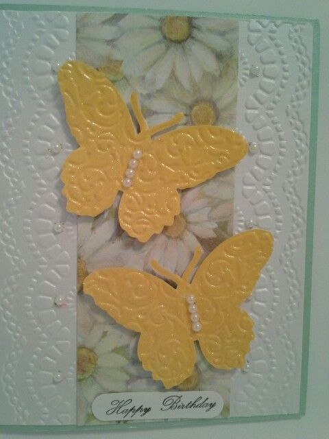 All but the daisy paper from stampin up