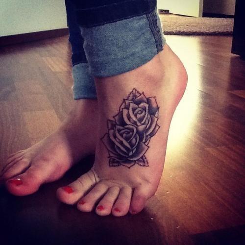 10 Foot Rose Tattoo Designs Pretty Designs Foot Tattoos Rose Tattoo Foot Foot Tattoo