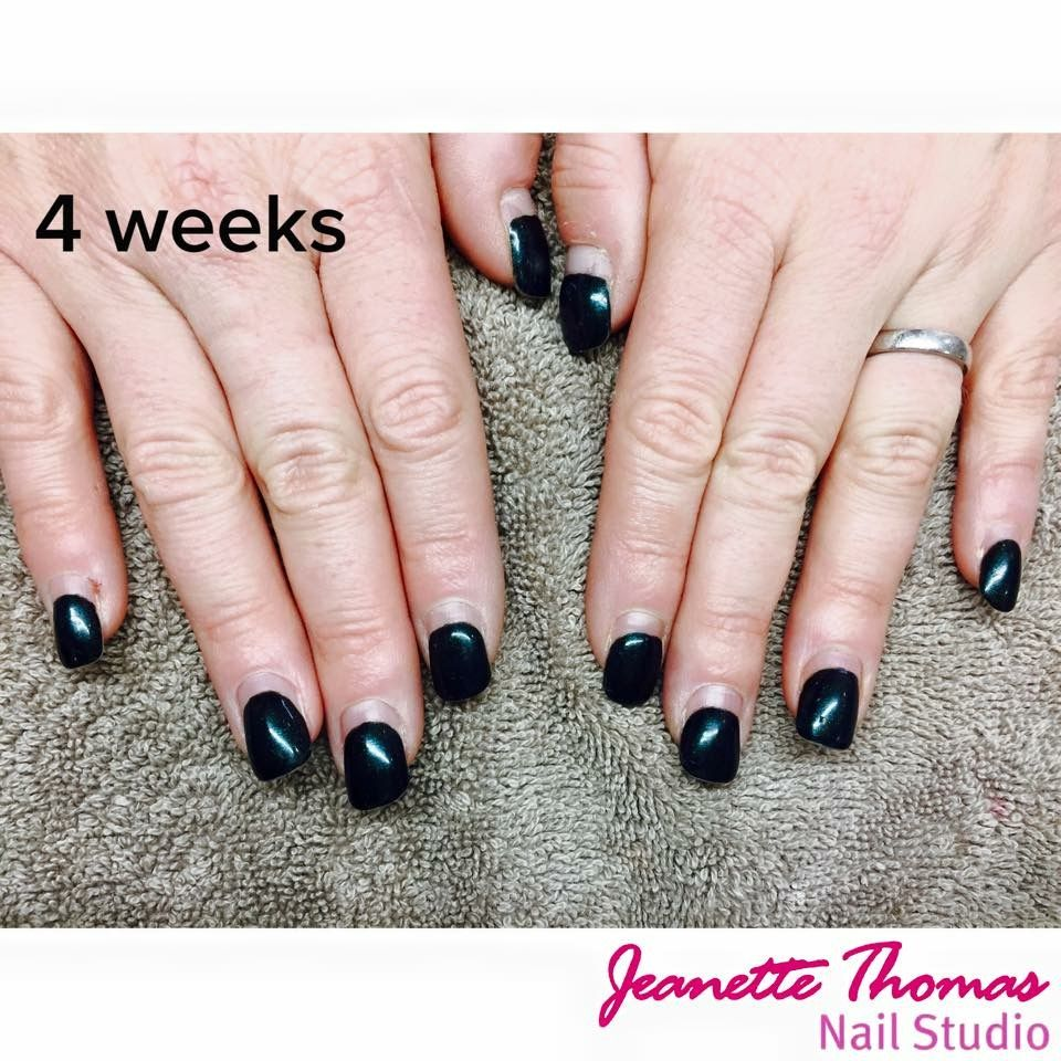 One Of Our Clients Acrylics 4 Weeks Old Just Before Her Refill Nail Studio Nails Class Ring