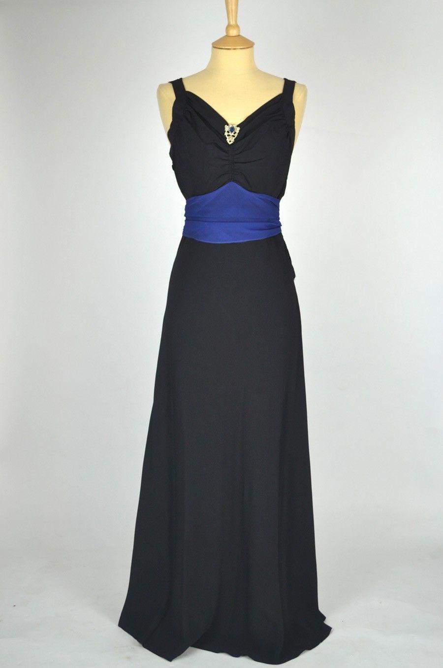 Vintage s black lace formal dress polyvore cocktail dresses