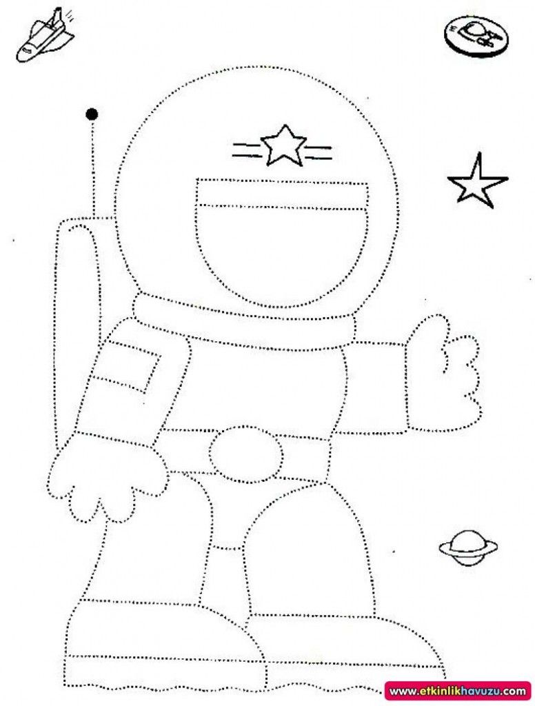 astronaut trace for kids | Crafts and Worksheets for ...