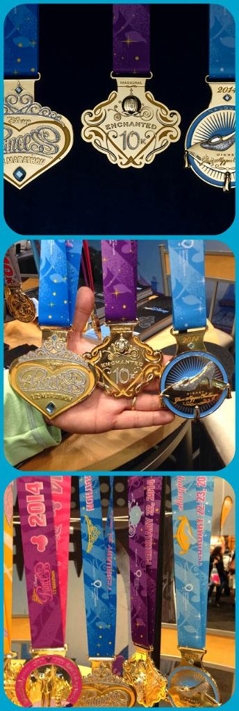 Amazing Disney Princess 2014 medals!! One of these will be MINE! http://margaritasmilesandmouse.blogspot.com/2013/10/princess-half-marathon-and-glass.html