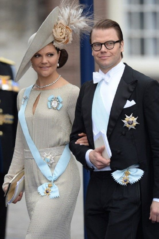 Sweden's Crown Princess Victoria and Prince Daniel leave the