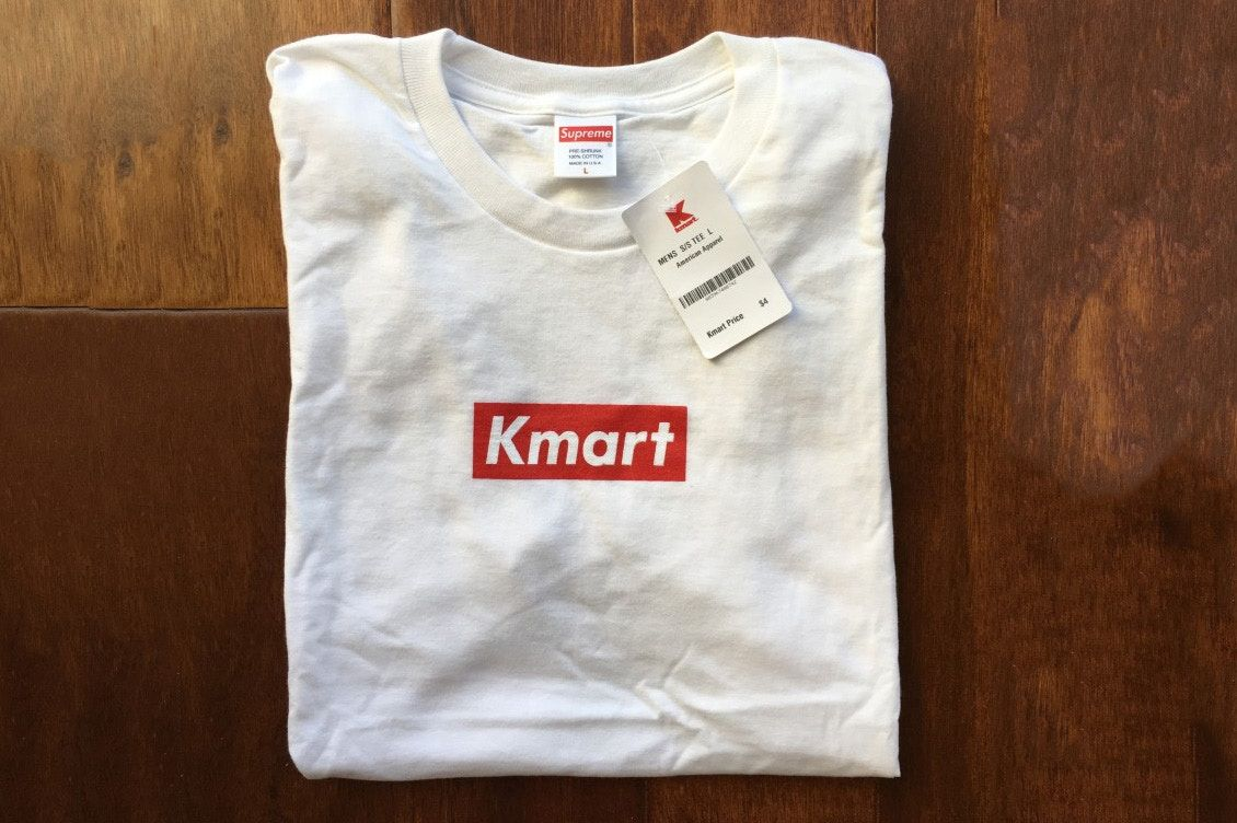 After A Reddit User Stumbled On A Haul Of Blank Supreme Tees At Kmart It Appears Someone Has Made Use Of Them Supreme Shirt Shirts Shirts White