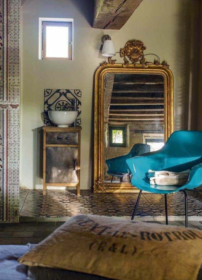 deco maison interieur avec couleur French farmhouse and Restoration