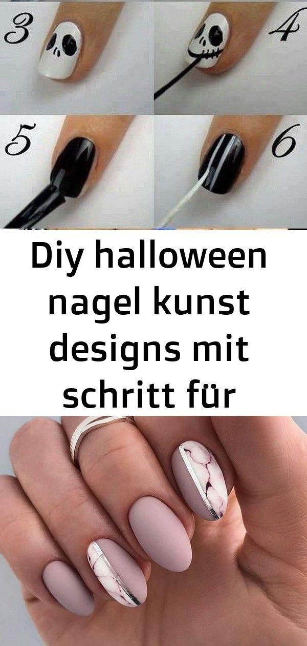 Diy halloween nagel kunst designs mit schritt für schritt ...