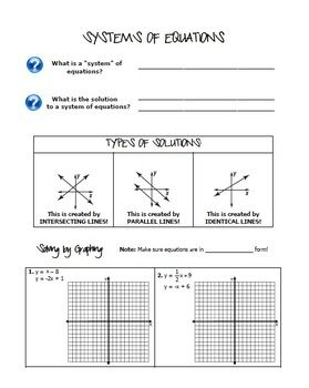 Systems of Equations and Inequalities (Algebra 1 ...