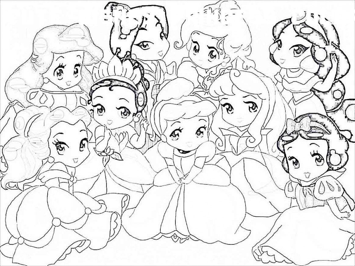 26 Cute Disney Princess Coloring Pages  Coloriage princesse
