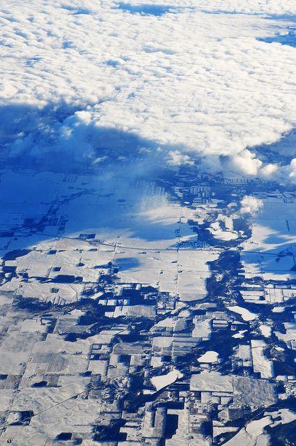 Snowy ground on flight from Denver to Newark by Mary P Madigan, via Flickr
