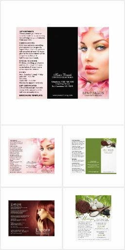 Spa And Salon Flyers And Brochures