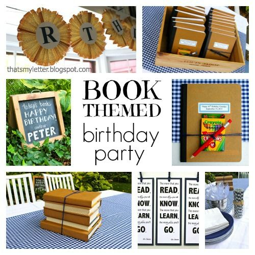 """""""B"""" Is For Book Themed Birthday Party (That's My Letter"""