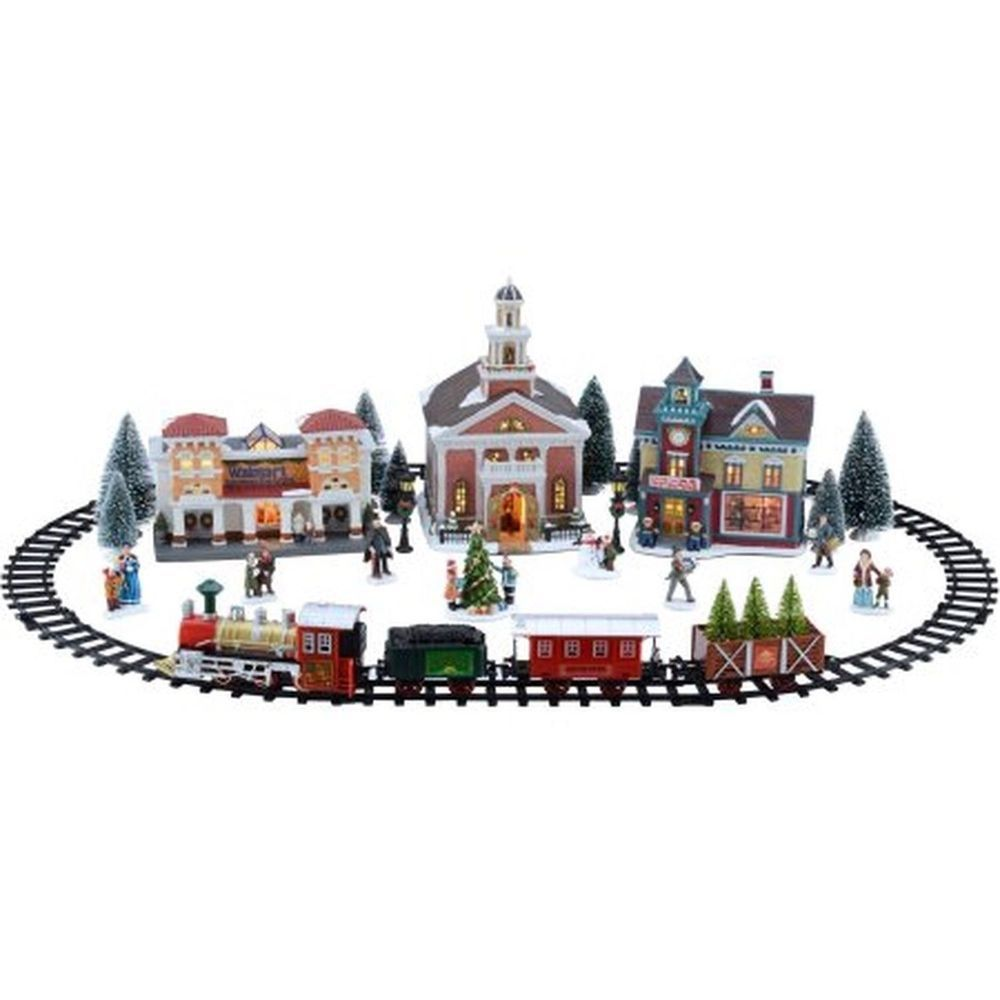Holiday Time Battery Operated Train Set Christmas Village | Tis the ...
